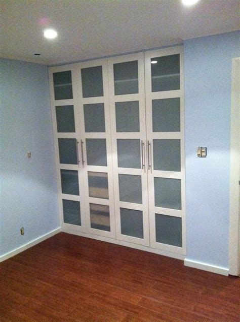 Ikea Closet Sliding Doors Ikea Hackers Pax Wardrobe Turned Custom Reach In Closets Get Rid Of Sliding Door Closet And