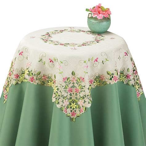 Pastel Organza embroidered pastel floral organza table linens ebay