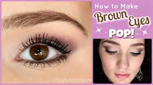 how to make your eye color brighter how to make brown pop makeup tutorial
