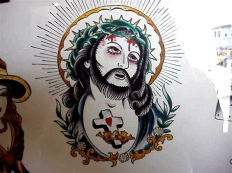 tattoo flash jesus the gallery for gt american traditional jesus tattoo flash