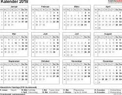 Kalender 2018 Schweiz Querformat In Farbe Kalender 2018 Zum Ausdrucken In Excel 16 Vorlagen