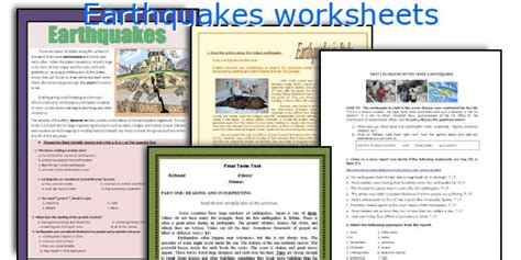 Worksheets On Earthquakes by Earthquake Worksheets Resultinfos