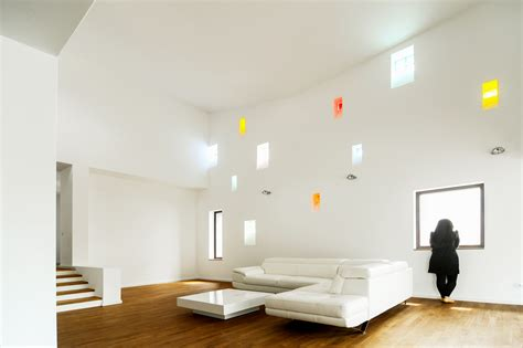 simple home interior modern inspiring house integrating colourful lights in