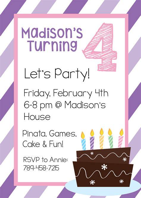 free printable invitations templates plus simple free party