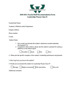 Recommendation Letter For Leader Recommendation Letter For Leadership Fill Printable Fillable Blank Pdffiller