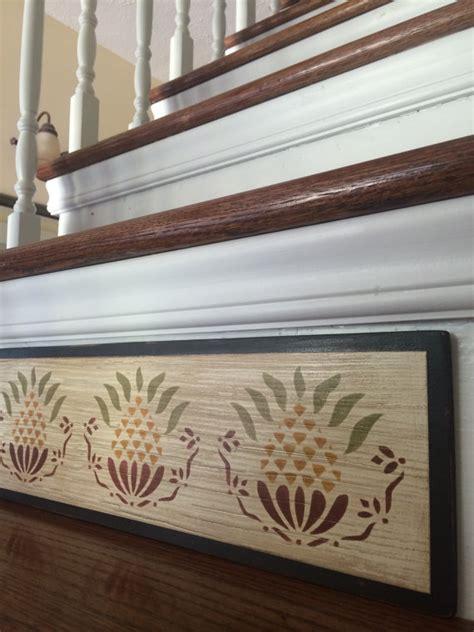 Stair Riser Decor by Primitive Decor Stair Riser Distressed Rustic Decor