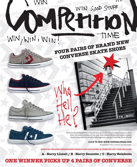 Win Pairs Of Lucky Brand by Win Four Pairs Of Brand New Converse Skate Shoes