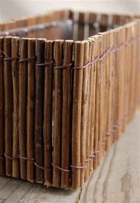 Twig Planters by Willow Branch Planter Boxes 10 5in