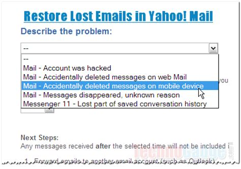 Yahoo Email Restore | restore deleted or lost emails in yahoo mail technogadge