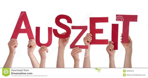 Character Means Letter Or Word many holding german word auszeit means downtime