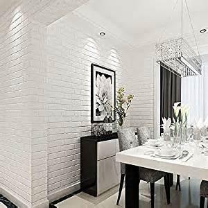 haokhome zz 03 vinyl faux white brick wallpaper for living