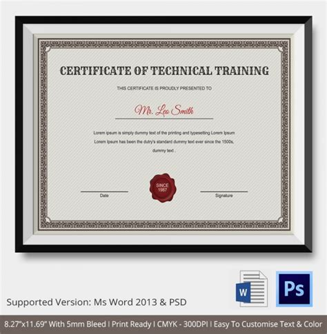 workshop certificate template 23 certificate templates sles exles