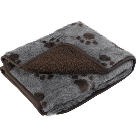 puppy blanket pet sherpa fleece blanket comforter warm faux fur paw print puppy cat ebay