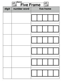 five frame five frame worksheet by cool kindergarten creations tpt
