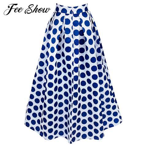 2017 maxi skirt polka dot chiffon skirts womens