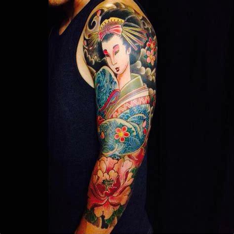 kimono tattoo girl geisha tattoo sleeve peony dragon kimono dragon