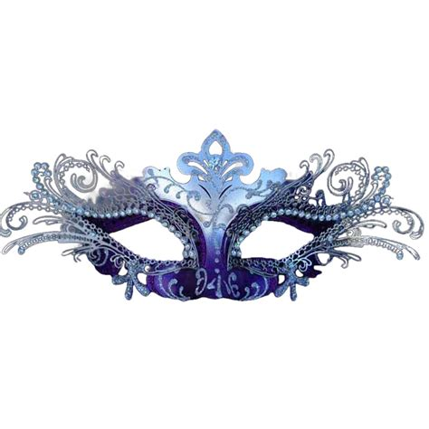 purple and silver decorative metal venetian mask