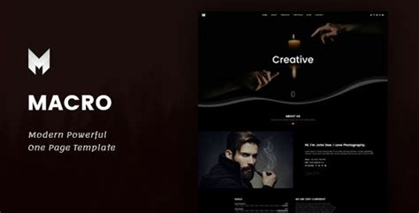 macro one page parallax template download templates free
