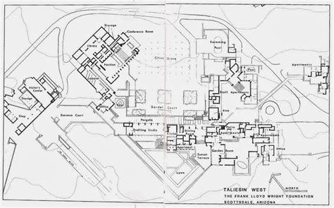 organic architecture floor plans floor plan of taliesin search fl wright