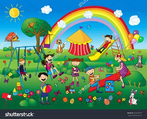 children clipart children park clipart