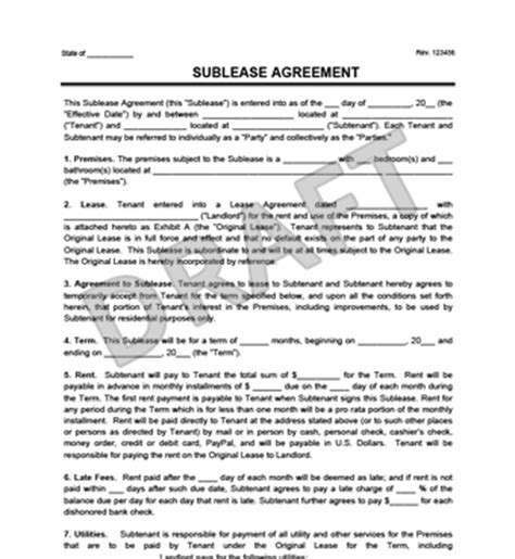 Sublet Contract Template Nyc Archives Simon Sessler Sublease Agreement Template Nyc