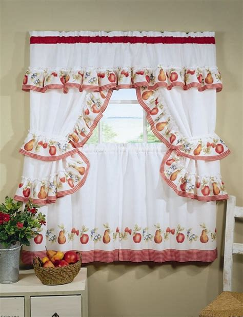 white and red kitchen curtains different curtain design patterns home designing