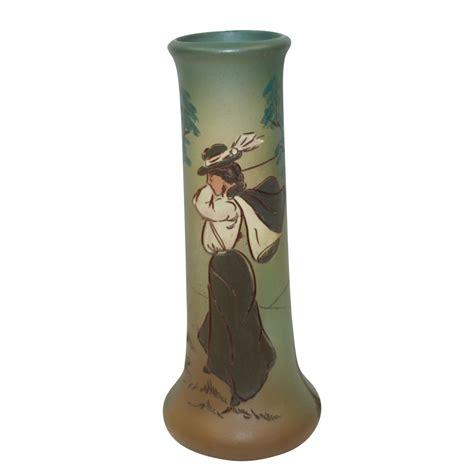 Weller Vase Prices Lot Detail Weller Dickensware Vase Female Golfer Early