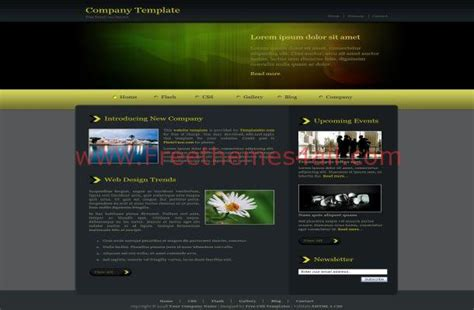 html themes with css jquery dark green css template free download