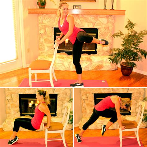 chair workout to do at home popsugar fitness