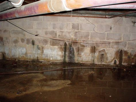 leaking basement wall