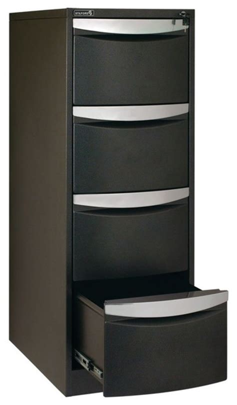 Officeworks Filing Cabinet Stilford 4 Drawer Filing Cabinet Black Contemporary Filing Cabinets By Officeworks Au