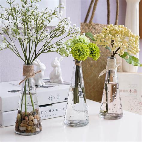living room flower vase creative living room decoration modern flower vase desktop ornament clear glass bottle flowers