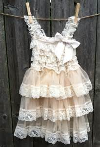 country wedding flower dresses rustic flower dress lace pettidress rustic flower