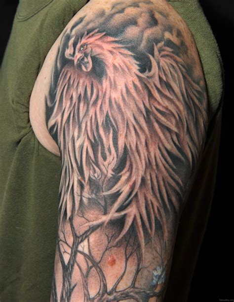 black and grey phoenix tattoo designs tattoos designs pictures page 11