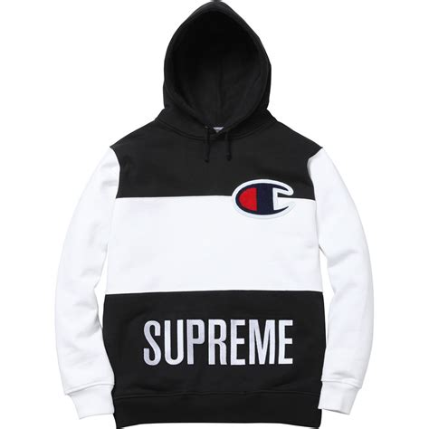 supreme hoodie uk supreme chion blocked pullover on the hunt