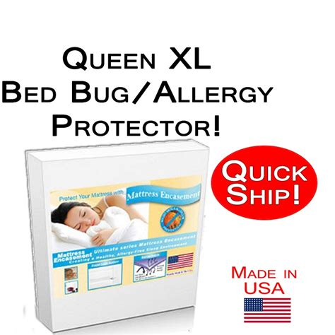 Xl Mattress Protector Bed Bugs by Ship Xl Size Allergy And Bed Bug Protection