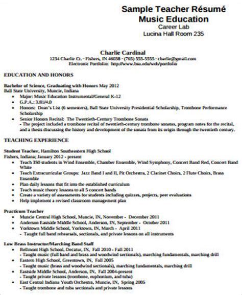 resume format for teachers pdf 7 sle resumes sle templates