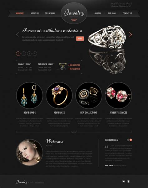 free bootstrap templates for jewellery jewelry wordpress theme 41897