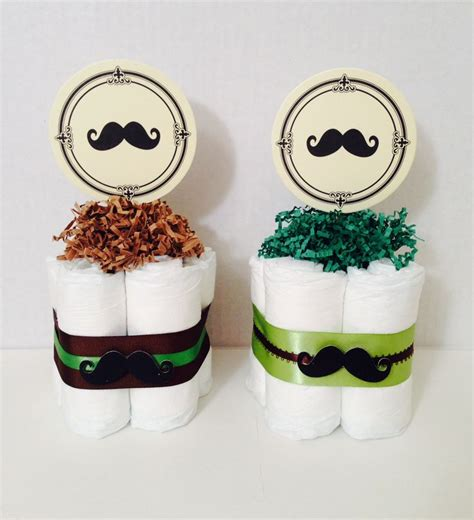 mustache baby shower decor diaper cake centerpieces www