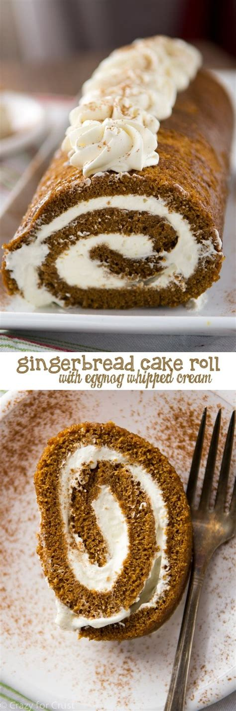 7 Foods To Make With Eggnog by Gingerbread Cake Roll With Eggnog Recipe