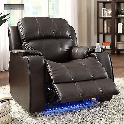 reclining with light up cup holders power massager recliner cup holder electric with neon