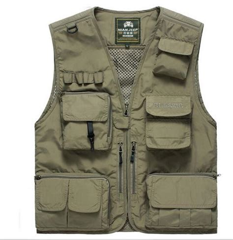 service vest with pockets nian jeep multi pockets vest safari vest photographer vest 15 pockets back