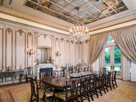 Mansion Dining Room by Estate Of The Day 43 Million Neoclassical Mansion In