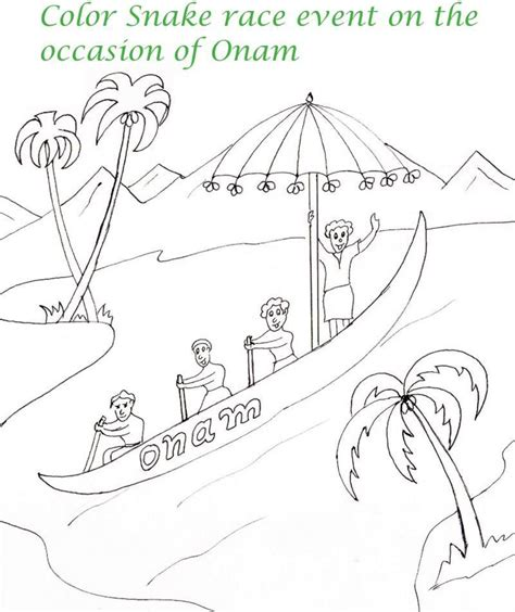 onam boat drawing onam printable coloring page for kids 7