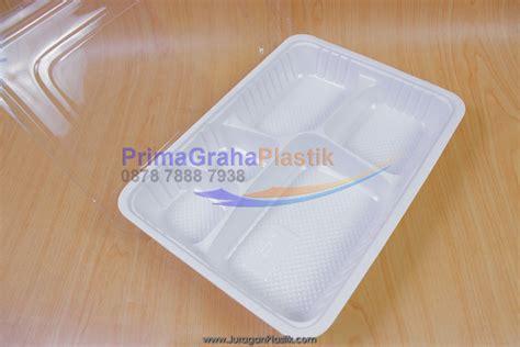 5 Sekat Tray by Box Bento Putih Xl 5 Sekat 5 Partisi Stock Ready