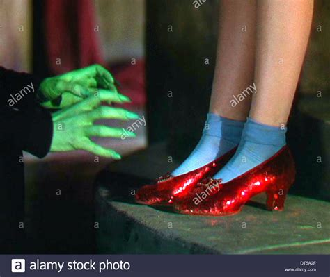 wizard of oz slippers dorothys ruby slippers the wizard of oz 1939 stock photo