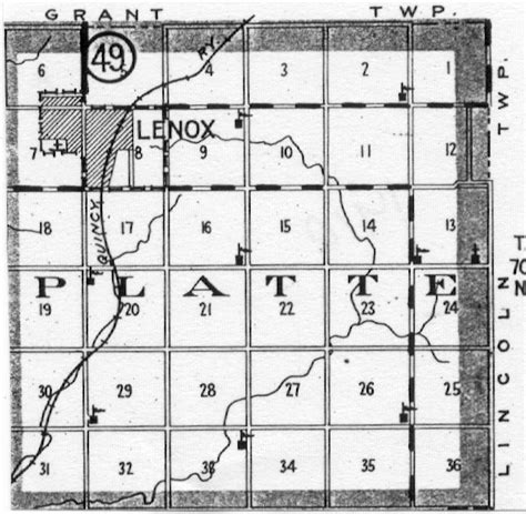 reed section taylor county iowa platte township map