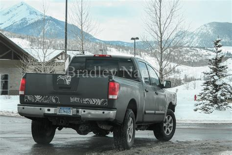 nissan tundra 2015 spied 2015 nissan titan diesel exercising at elevation