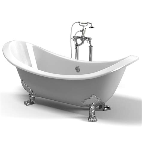 model bathtub 3d bathtub models max 3ds obj fbx c4d
