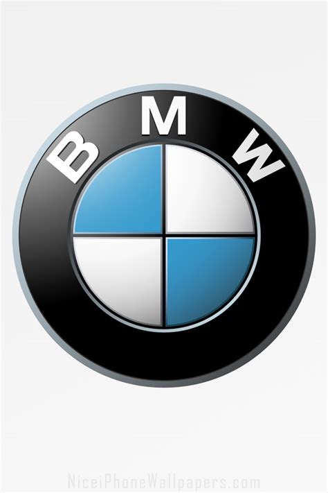 Bmw Logo White by Bmw Logo On White Hd Iphone Wallpaper Background And Theme